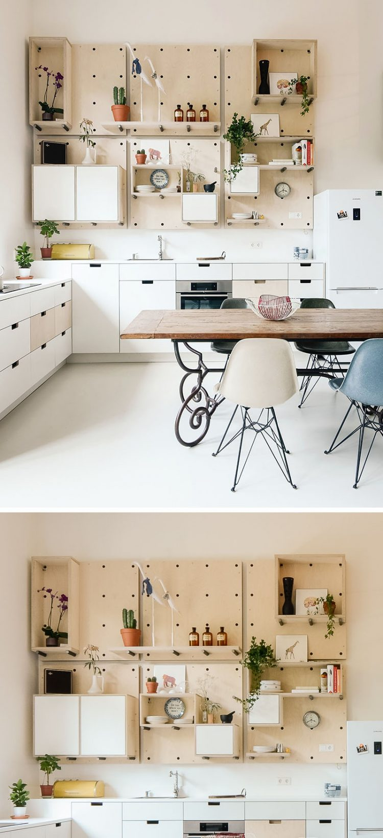 The Cool Thing About Pegboard Kitchen Storage Is That It Could Be Changed Any Moment You