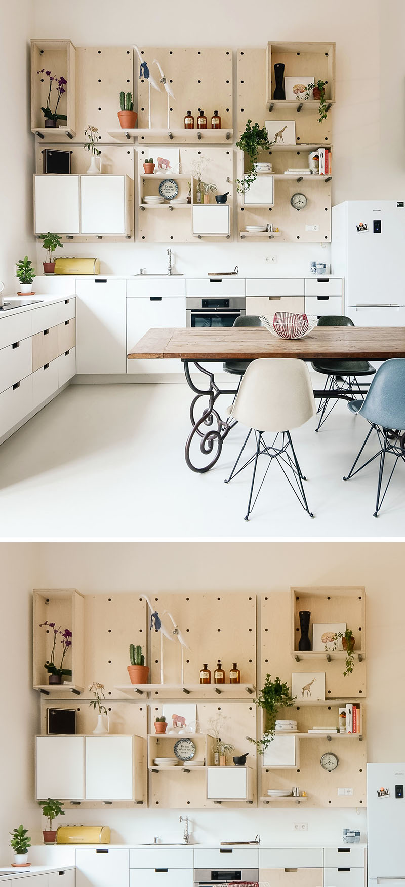 the cool thing about pegboard kitchen storage is that it could be changed any moment you like