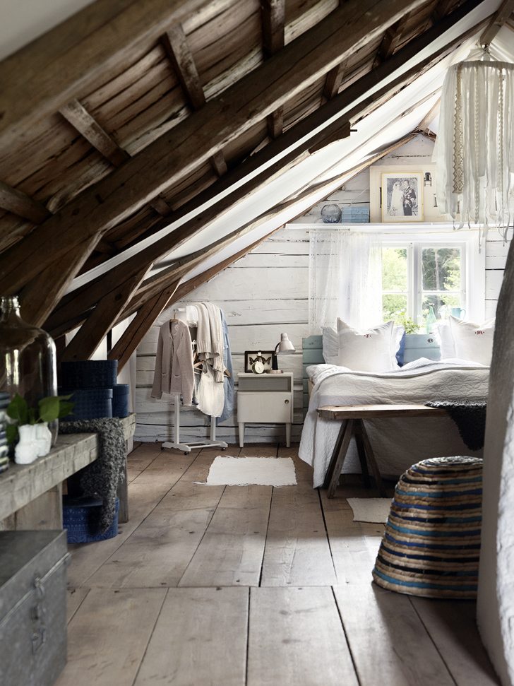 cozy and spacious attic bedroom in rustic style. 70 Cool Attic Bedroom Design Ideas   Shelterness