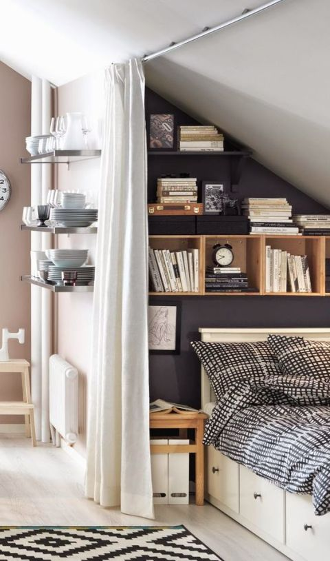 Attic Room Ideas Part - 41: Cozy Little Attic Bedroom Suitable For A Teenager