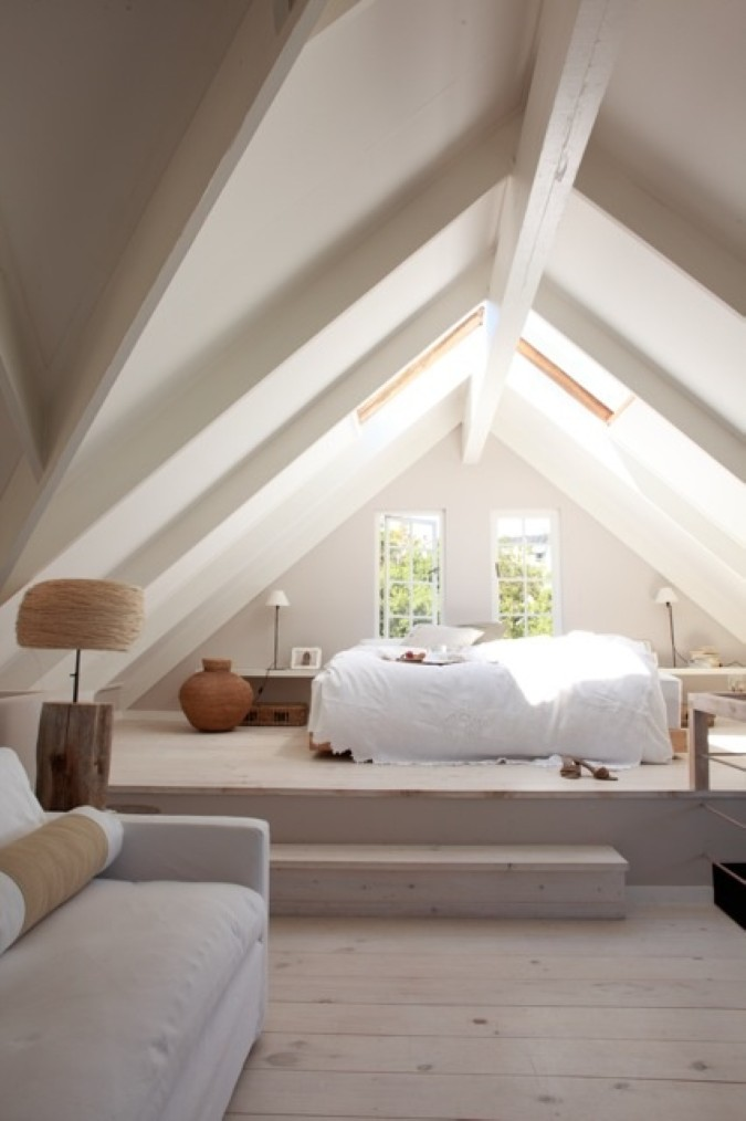 Stunning dreamy loft room design