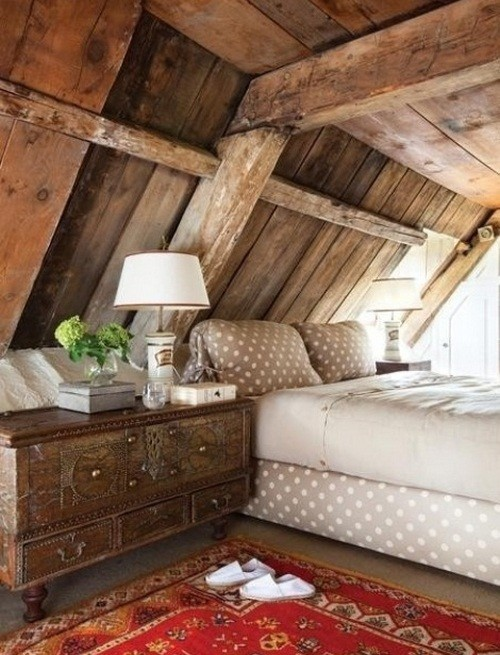 Best farmhouse style attic bedroom