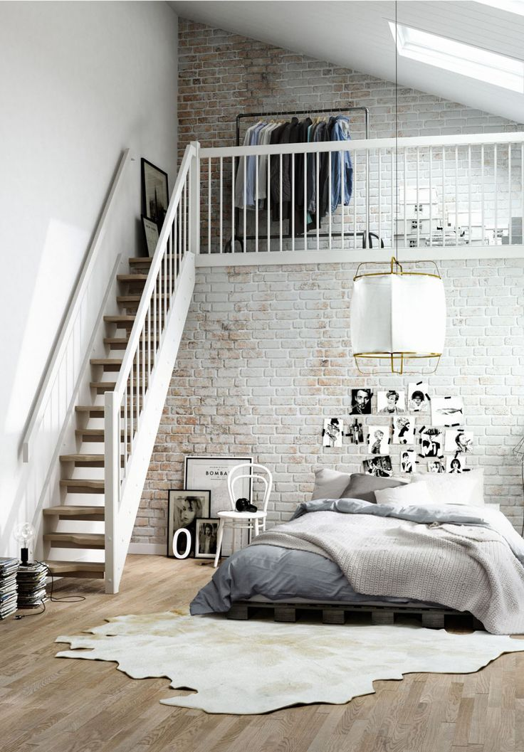 Beau Loft Bedroom Design With Lots Of Creative Accesories