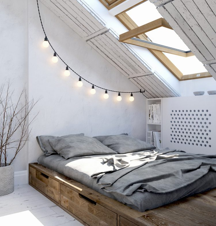 stylish loft bedroom design full of creative ideas & 70 Cool Attic Bedroom Design Ideas - Shelterness