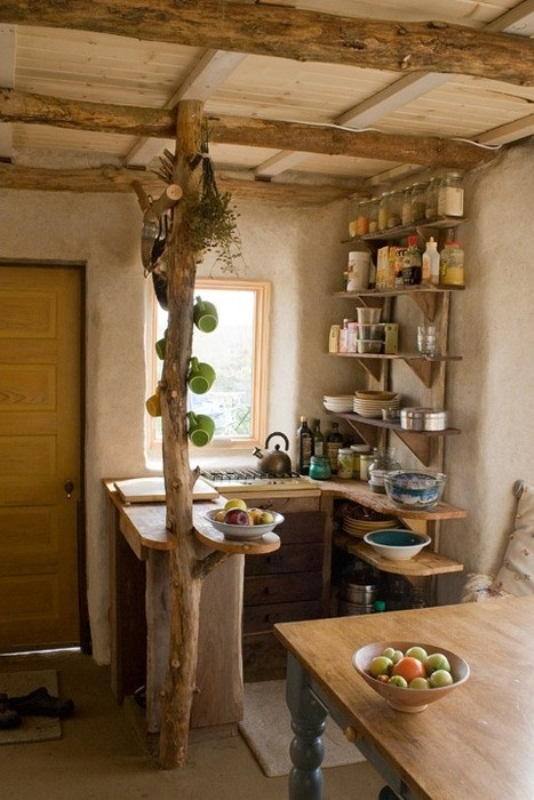 Who Said That Small Kitchen Canu0027t Be Creative? (via Digsdigs)