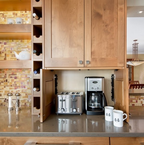 Creative Storage For All These Appliances Is Quite Important For A Small Kitchen Via Digsdigs