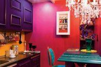 Bold decor could make a small kitchen shine
