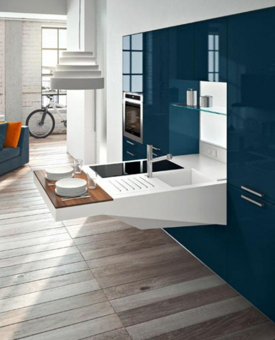 Cool Furniture From Snaidero Could Be Quite Functional It S A Modern Kitchen With A Smart
