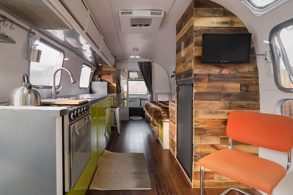 Tight space in Airstream is more than enough for a fully functional home