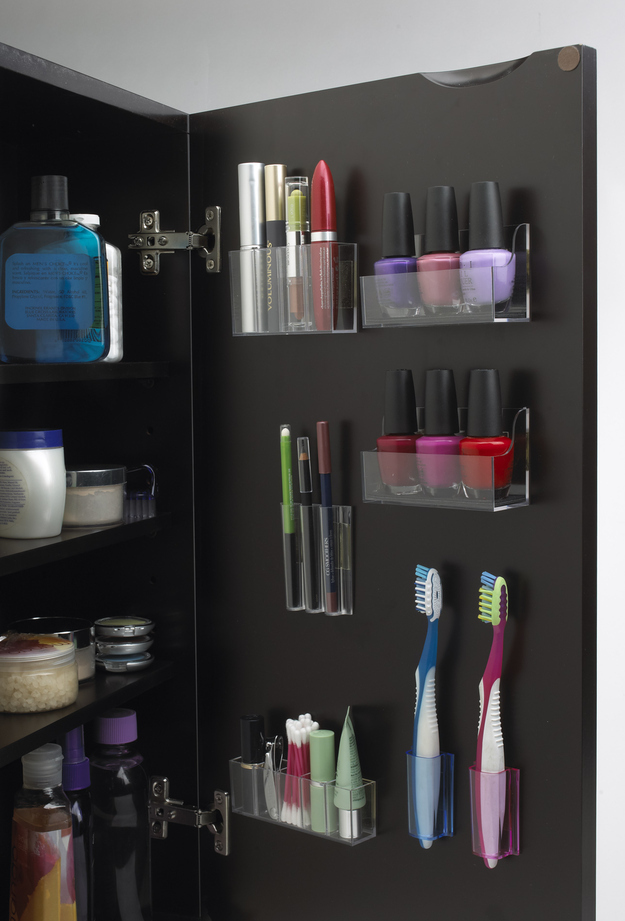 clever organization of space inside cabinets is very important in a tiny bathroom - Small Bathroom Cabinets Storage