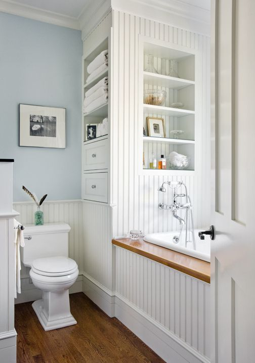 creative storage idea for a small bathroom organization shelterness