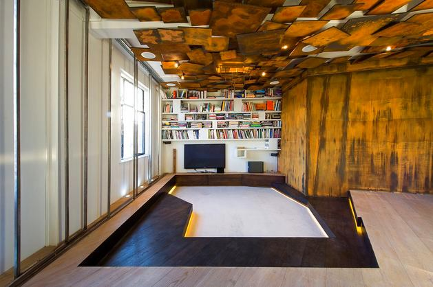 complex geometric structure on a ceiling could become a focal point of any room