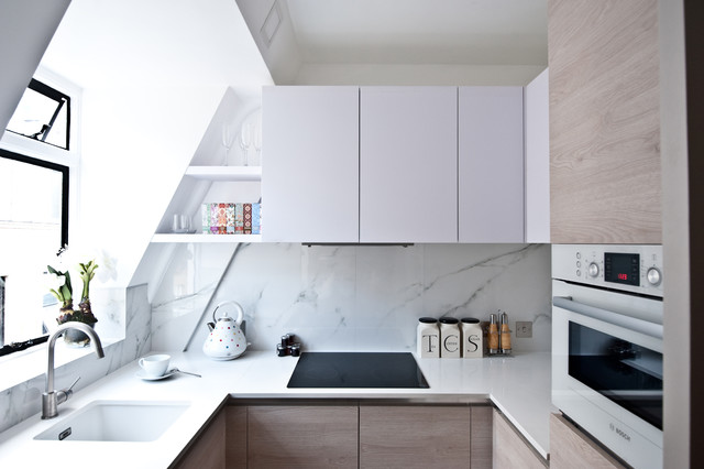 51 small kitchen design ideas that rocks shelterness for Small studio apartment space