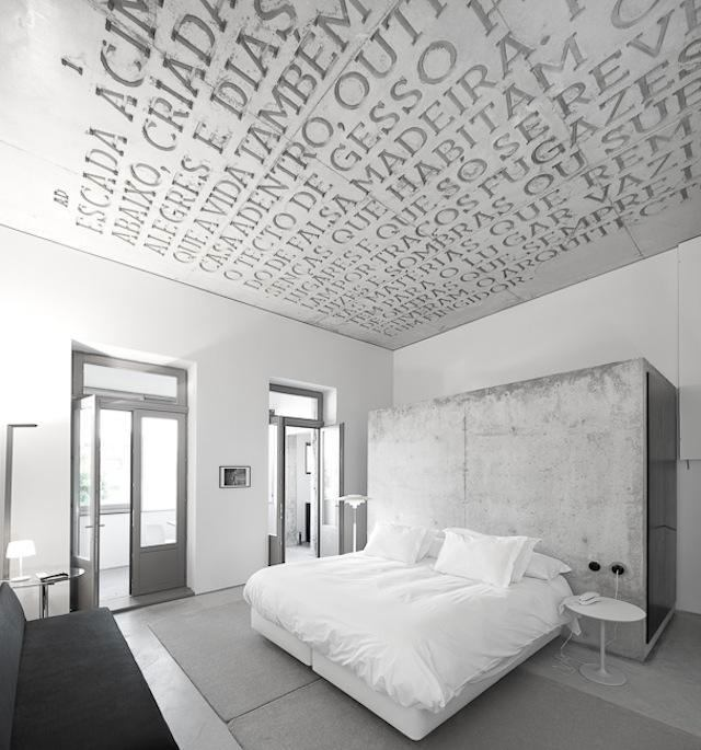 letters on a ceiling is a really creative idea - Ceiling Design Ideas