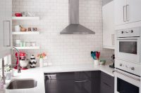 modern black and white design works well in any room