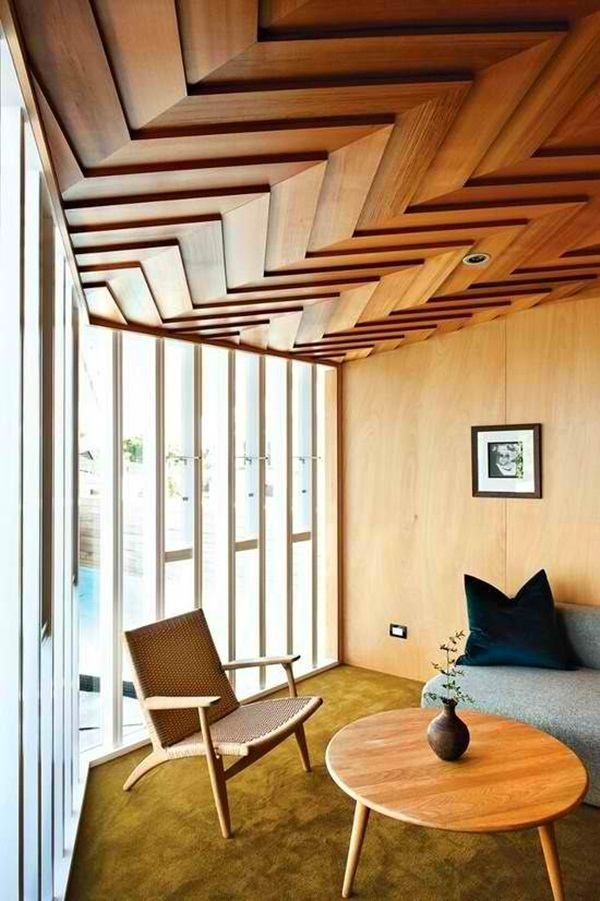 modern interiors could use a touch of wood on a ceiling - Room Design Home Roofs