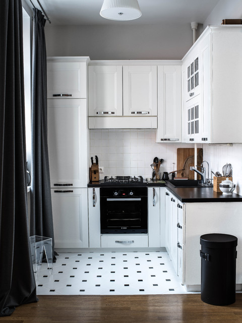 smart black and white kitchen design