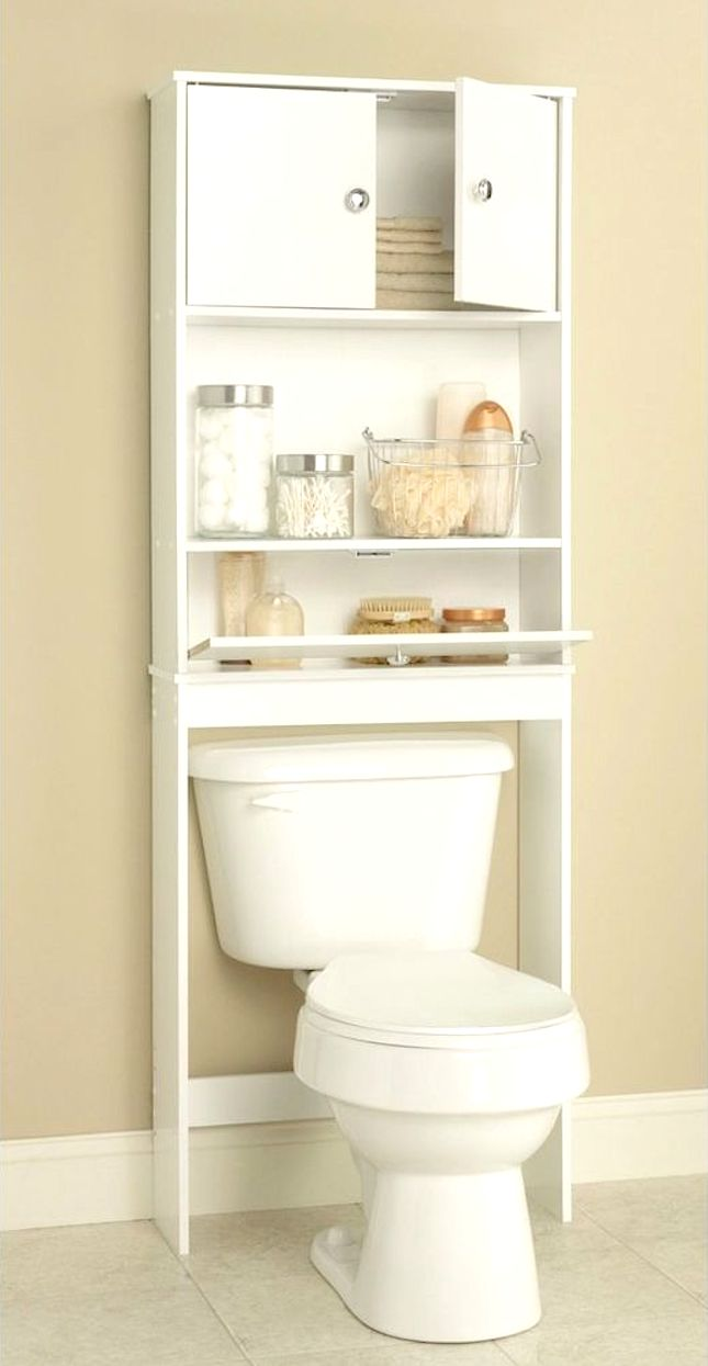 space over the toilet should always be used in a tiny bathroom - Bathroom Decorating Ideas For Over The Toilet