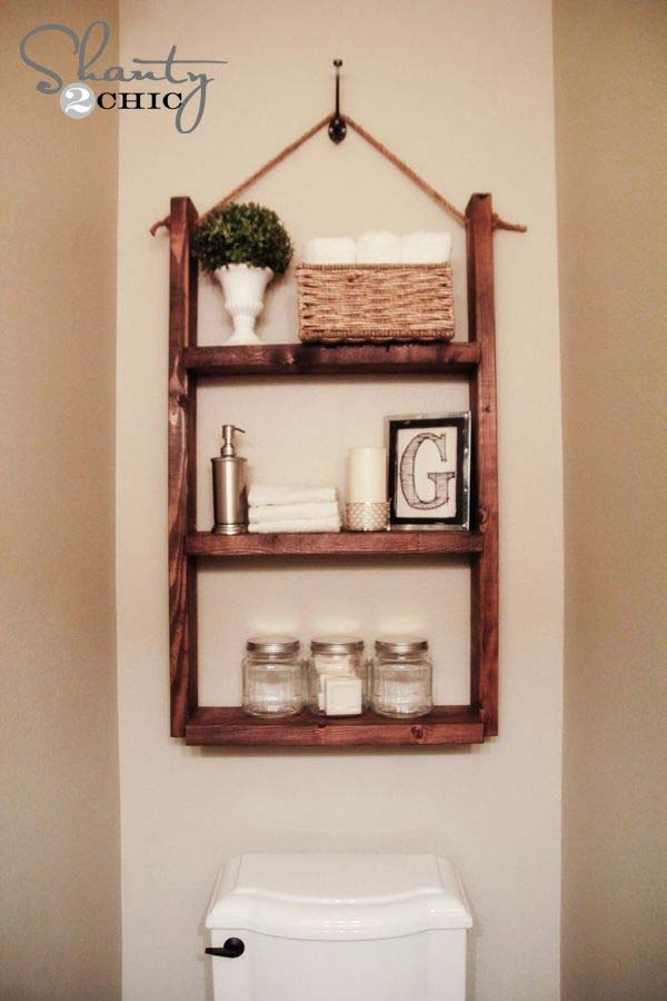 Lovely Super Simple Over The Toiltet Storage You Can DIY