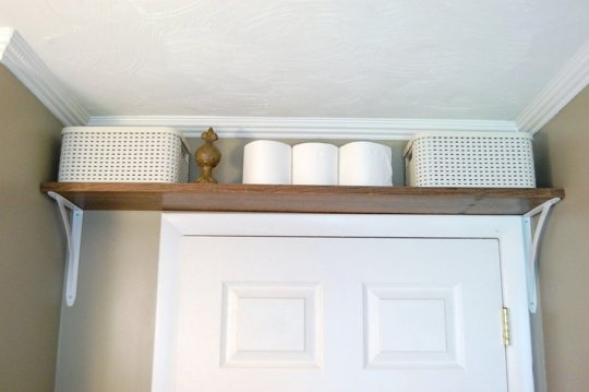 Use Free Space Above A Bathroom Door