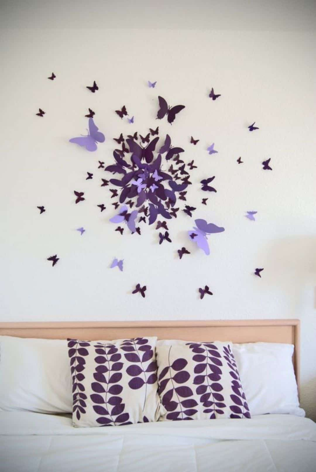 a 3D butterfly circle burst is a whimsy and bold idea to add these cuties to your space anytime