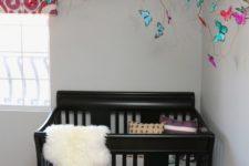 a cool nursery decor with butterflies