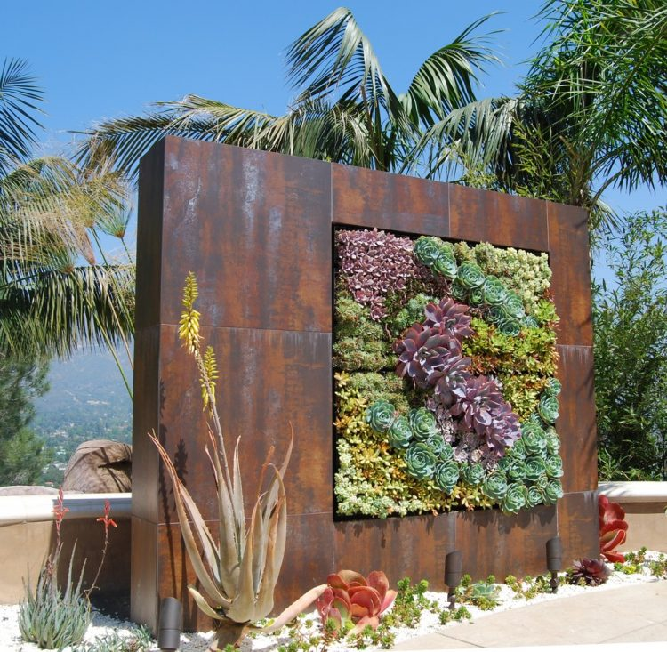 extremely big all-metal succulent wall