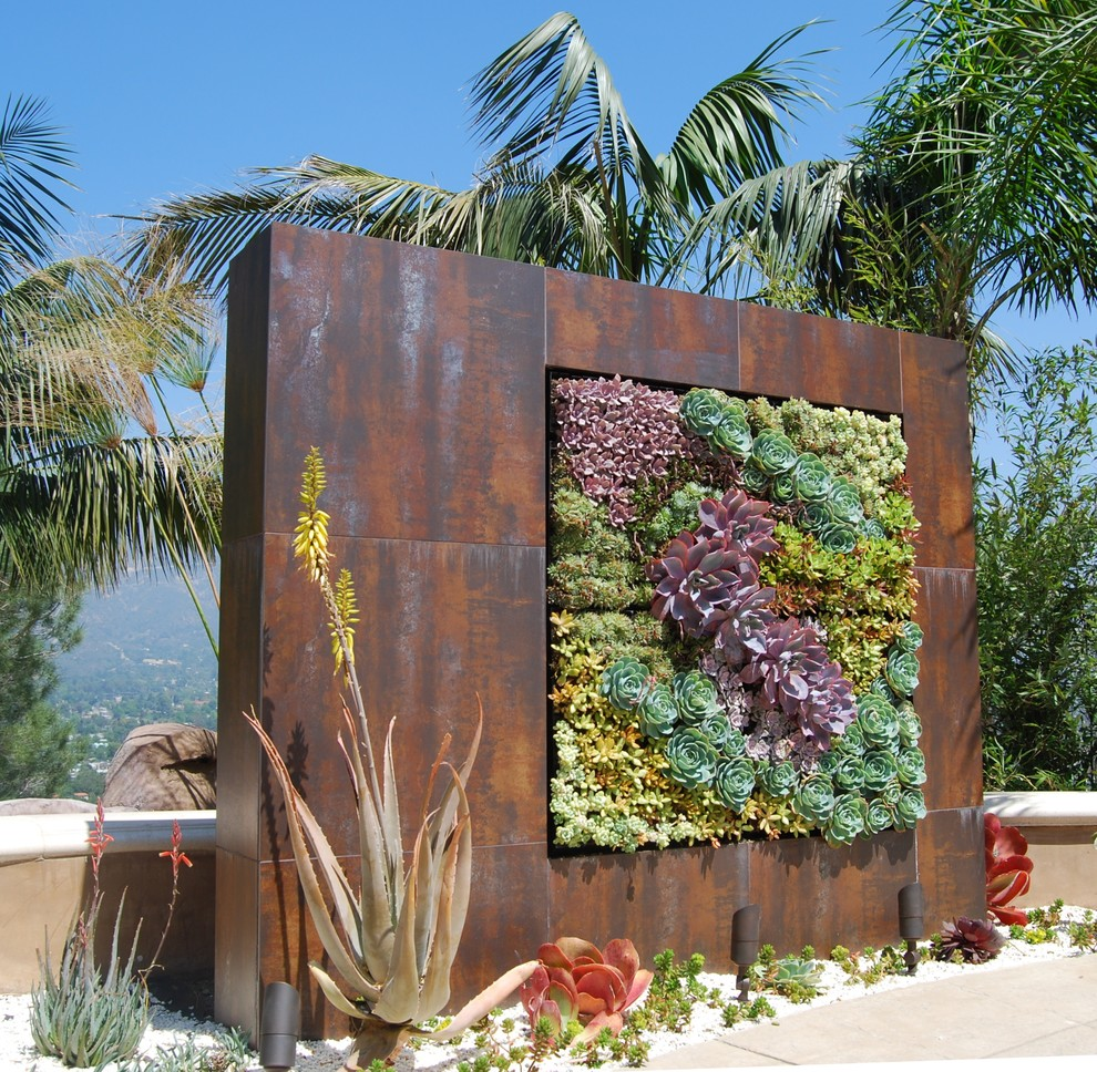 extremely big all metal succulent wall