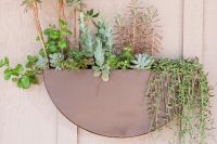 super simple planter could become a real landscape with all these beautiful fat plants