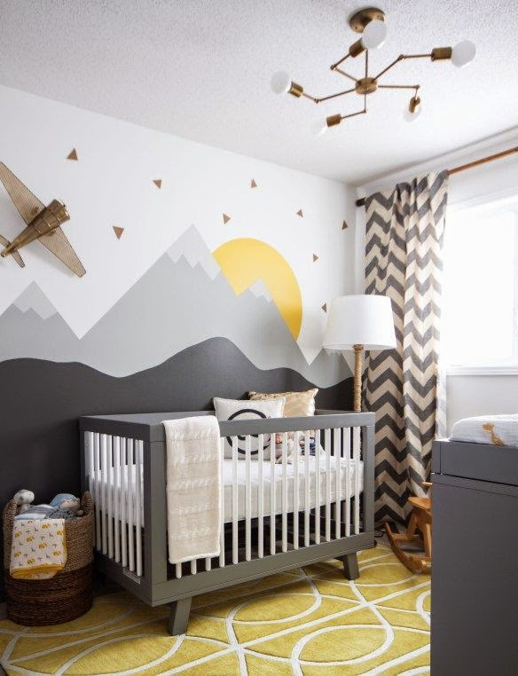 Simple a beautiful wall decl is the easiest way to tranform nursery decor