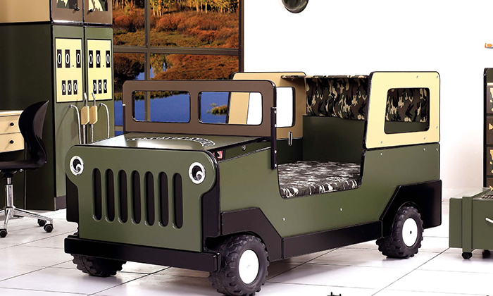 army jeep bed can protect your son from anyting