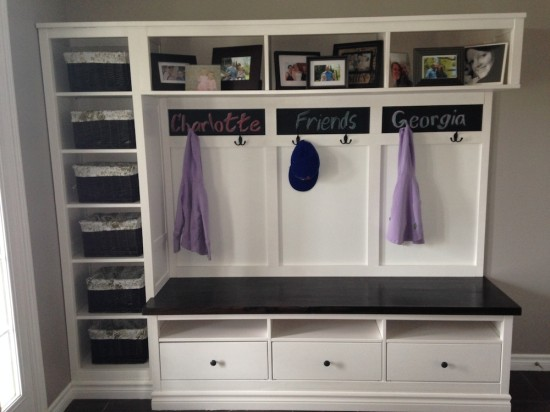 hemnes tv bench and a boocase could solve all your entryway storage needs