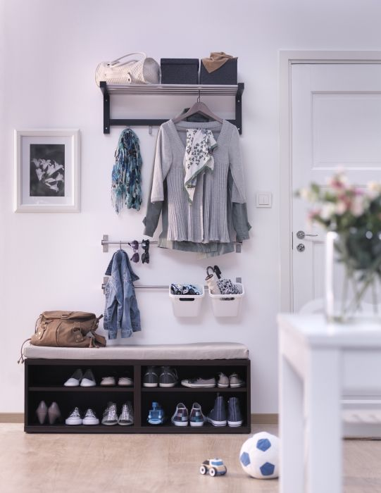 67 mudroom and hallway storage ideas shelterness Entryway bench ikea