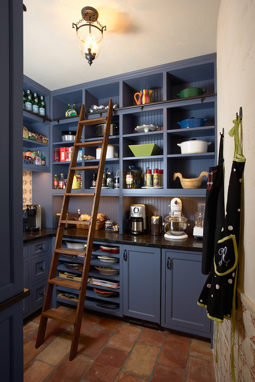 ladder is a great addition to many kitchen pantries