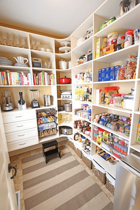 Open Shelving Is Always The Best Solution For A Kitchen Pantry
