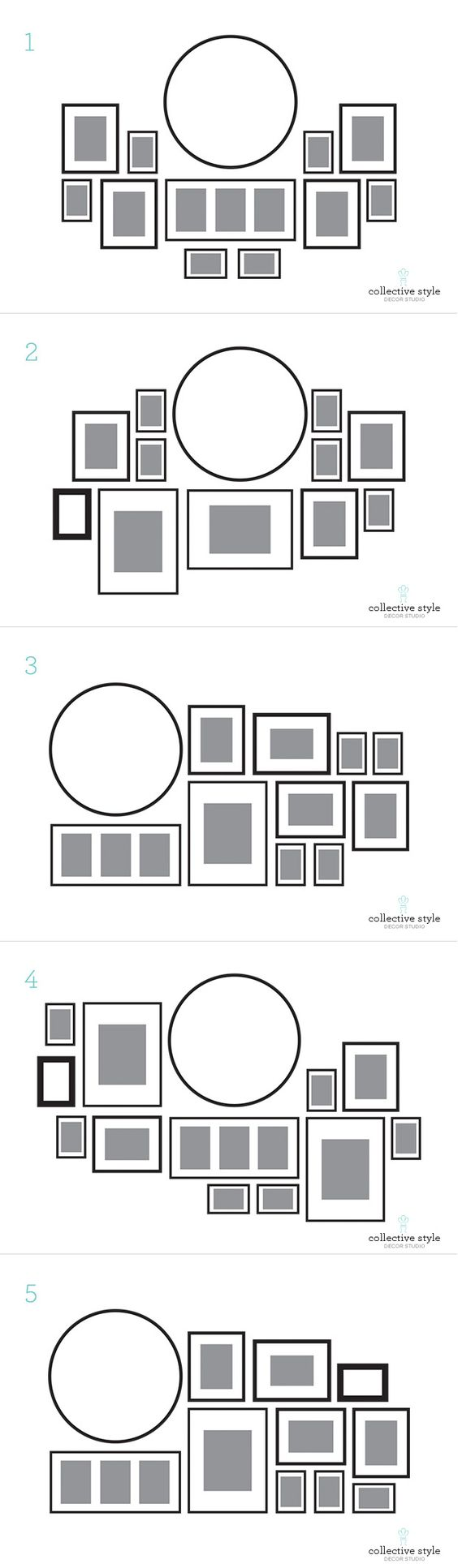57 ideas to decorate walls with pictures shelterness for Picture wall layout