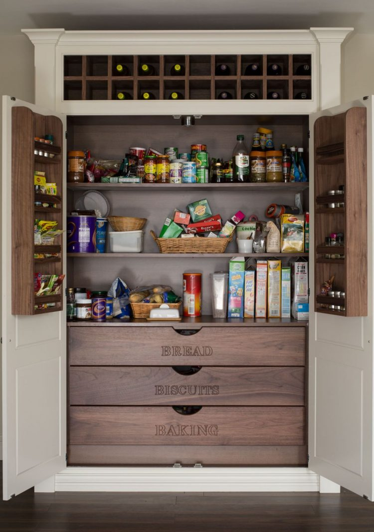 Built in kitchen pantry cabinet - Really Functional Food Pantry Cabinet