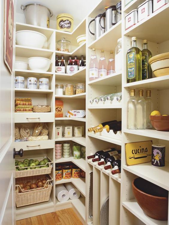 simple yet well organized pantry example - Closet Pantry Design Ideas