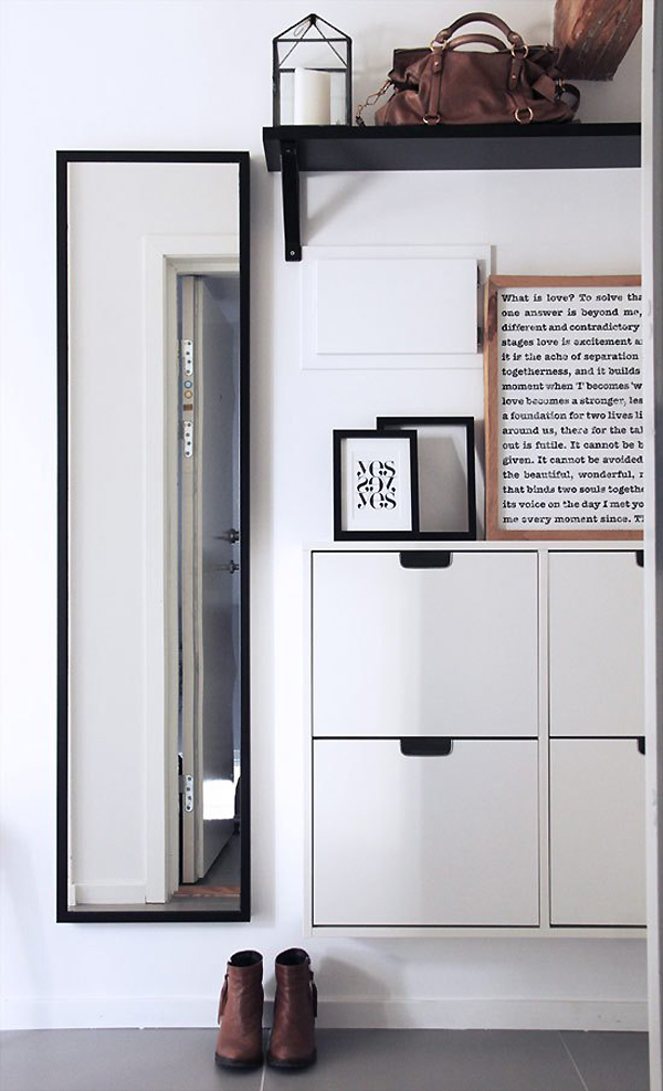 standard ikea furntiure for a standard entryway