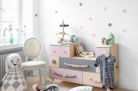 wooden IKEA PS 2012 dresser with a little paint and new handles is perfect addition to any kids room