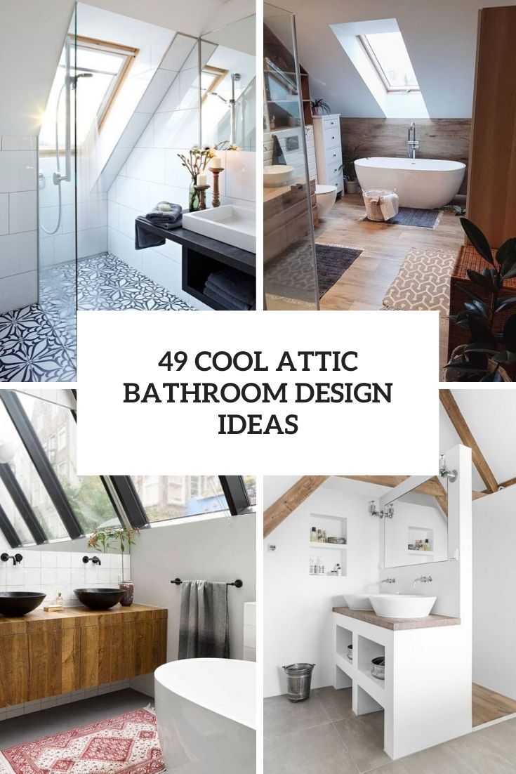cool attic bathroom design ideas cover
