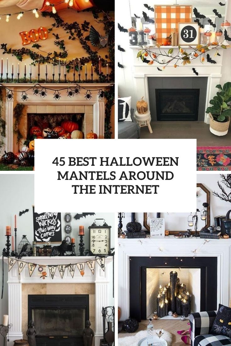45 The Best Halloween Mantels Around The Internet