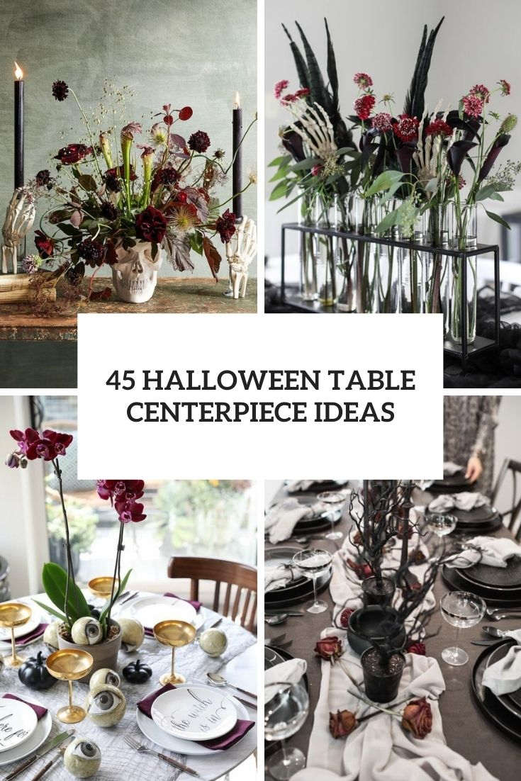45 Halloween Table Centerpiece Ideas