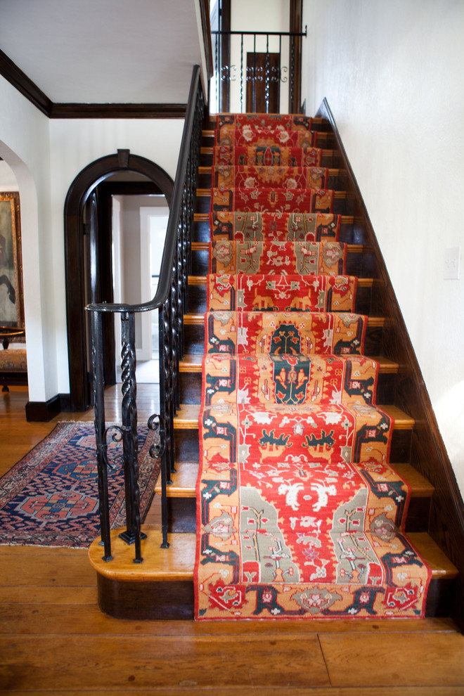 an oriental runner is perfect for an eclectic look
