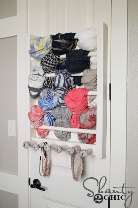 diy scarf storage solution for any door