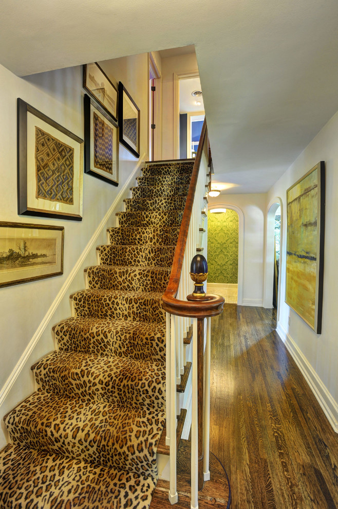 leopard-print stair runner would make a statement in any interior