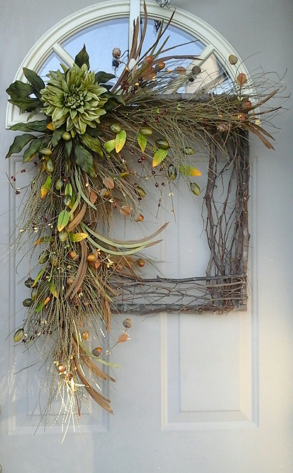 If you like squares more than circles  they you can make the wreath according to your preference. It won't be less stylish!