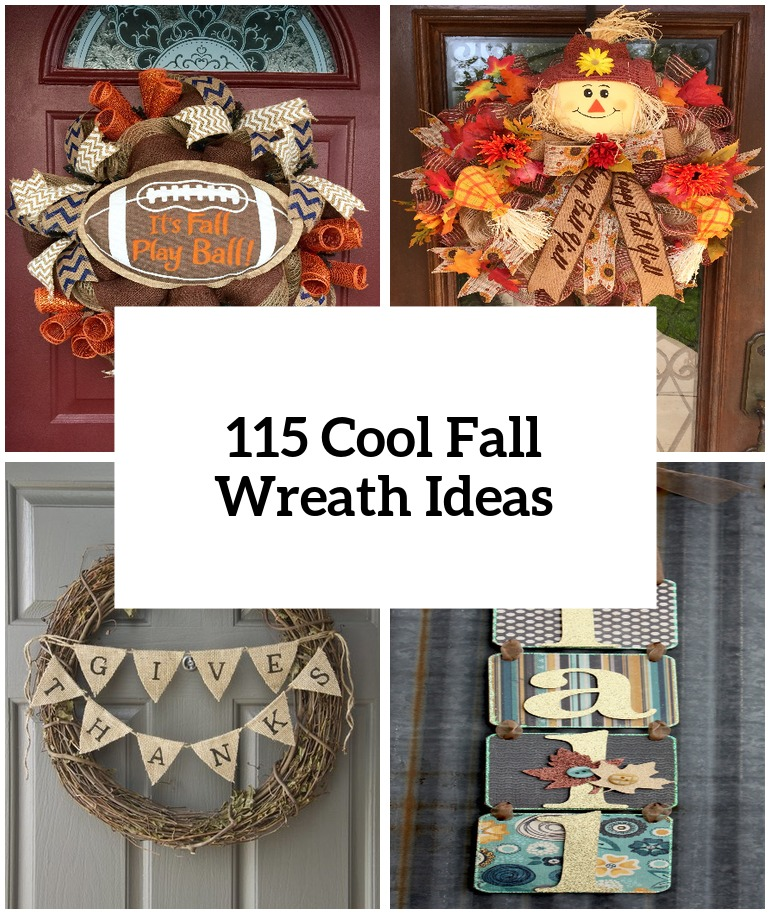 115 Cool Fall Wreath Ideas