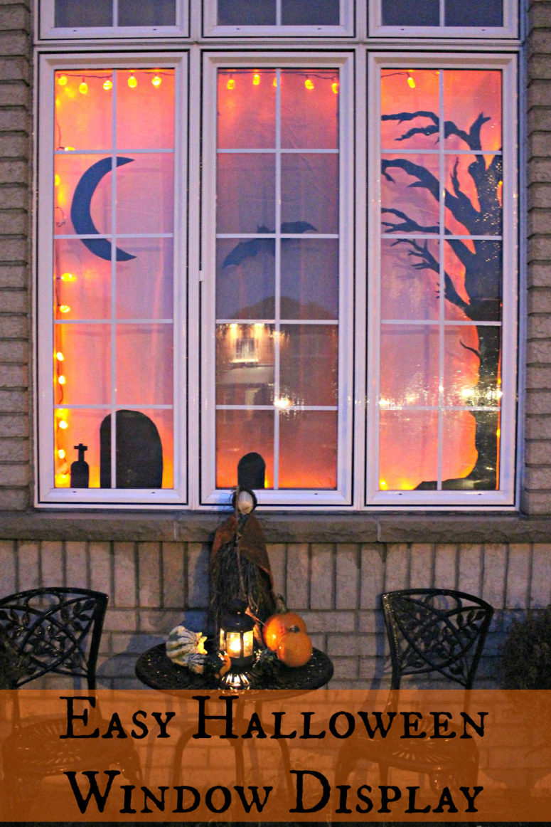 How To Decorate Small Second Living Room Off Of Kitchen: 35 Ideas To Decorate Windows With Silhouettes On Halloween