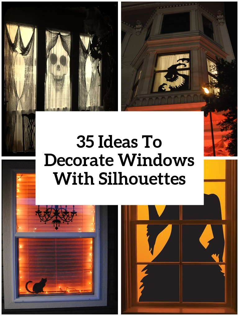 35 ideas to decorate windows with silhouettes on halloween How to decorate windows